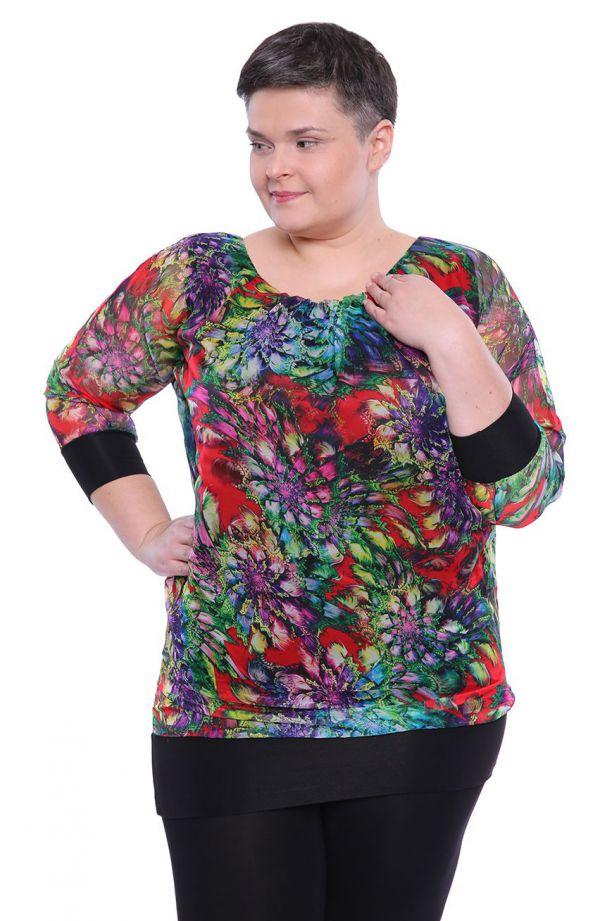 Szyfonowa bluzka kolorowa iluzja