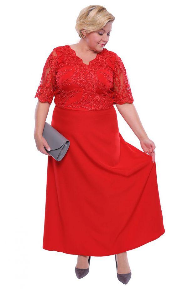 Wieczorowa sukienka w kolorze czerwonego maku