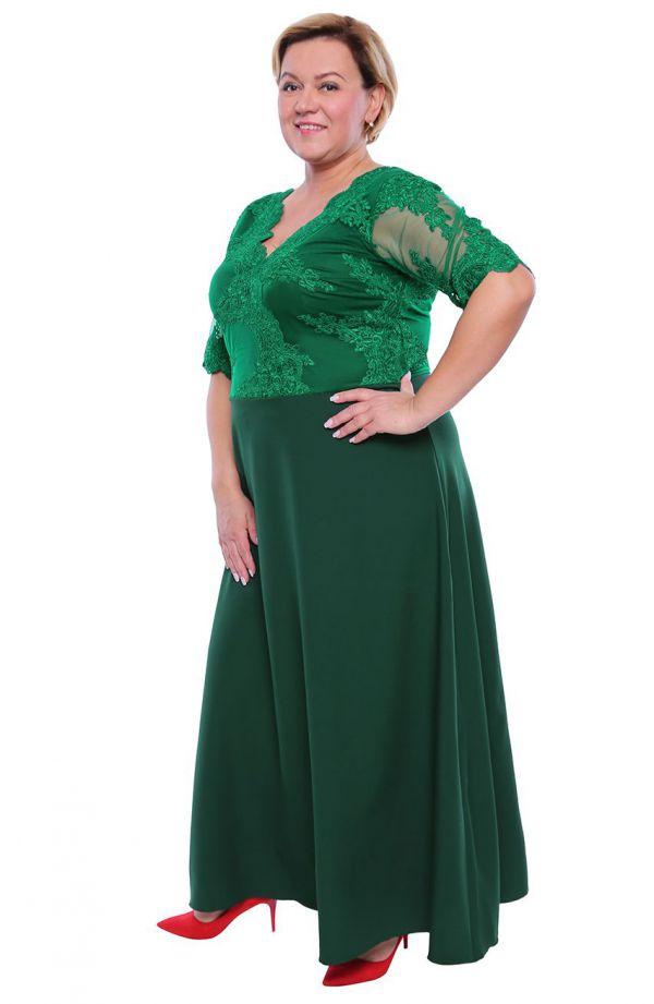 Wieczorowa sukienka w kolorze ciemnej zieleni