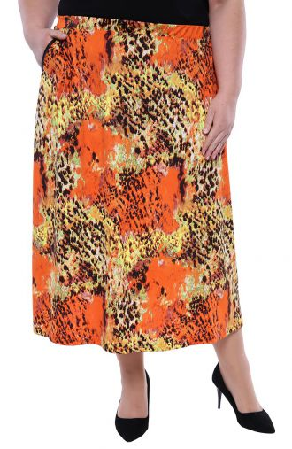 Spódnica w panterkę pomarańcza i cytryna