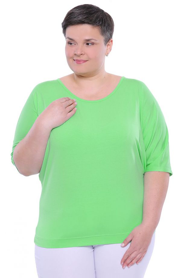 Jasnozielona bluzka z wiązaniem na plecach