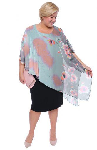 Sukienka z narzutką poranna rosa