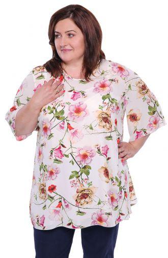 Dwuczęściowa bluzka ogród cyklamenowy