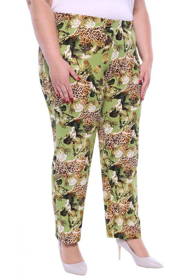 Lekkie spodnie w liście i panterkę