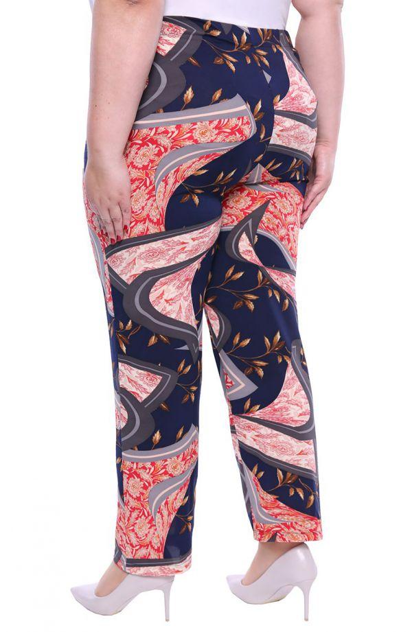 Lekkie spodnie w ornament