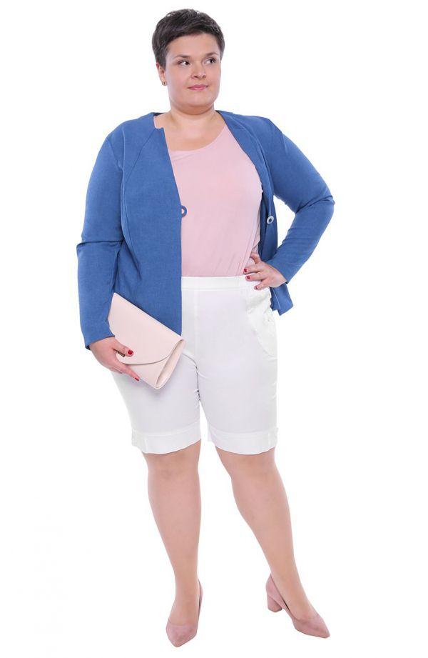 Mleczne krótkie spodnie typu bermudy
