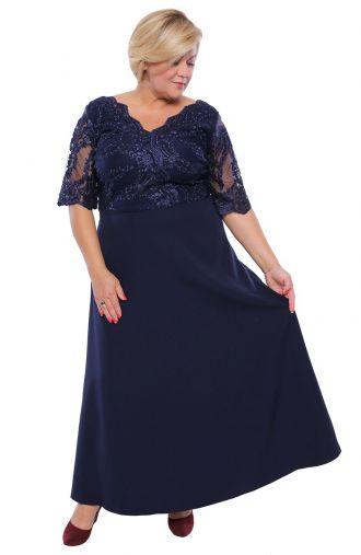 Wieczorowa sukienka w kolorze atramentowym