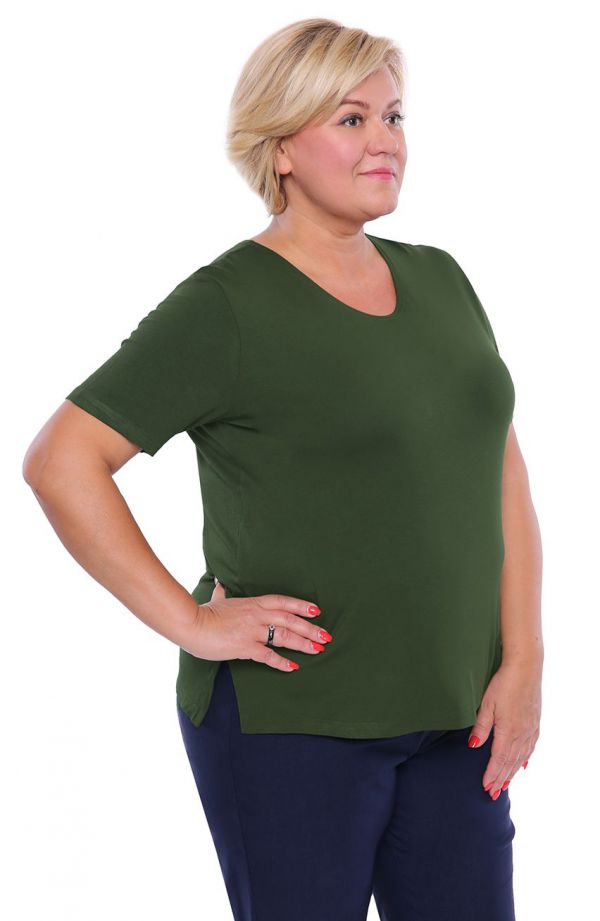 Koszulka z wiskozy w kolorze zielonej herbaty