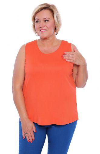Uniwersalny top w marchewkowym kolorze