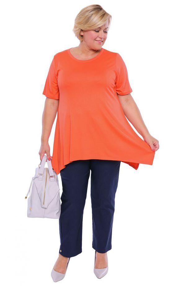 Tunika w marchewkowym kolorze