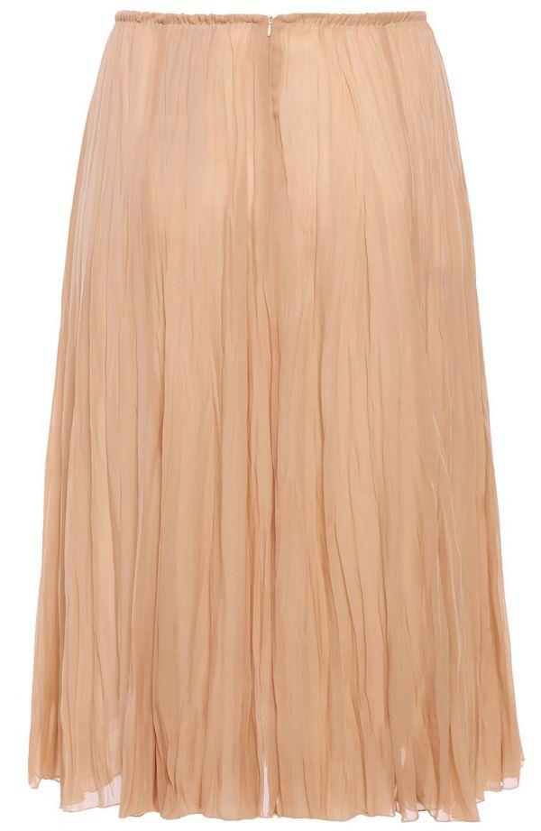 Plisowana spódnica w kolorze karmelowej kawy