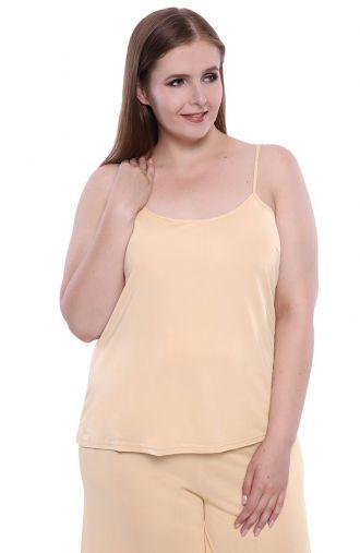 Beżowa koszulka na ramiączkach Mewa