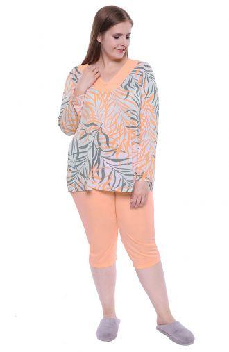 Morelowa piżama tropikalne noce Mewa