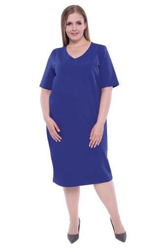 Chabrowa sukienka z dzianiny dresowej