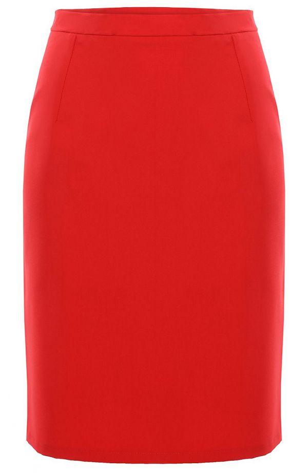 Czerwona spódnica z efektownym wykończeniem
