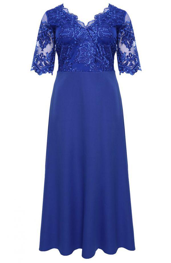 Wieczorowa sukienka w kolorze chabru