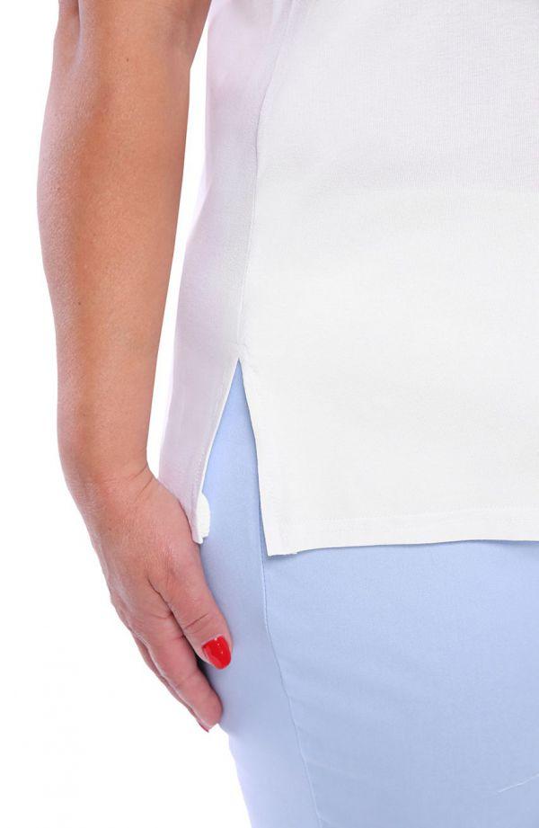 Uniwersalny biały top z wiskozy