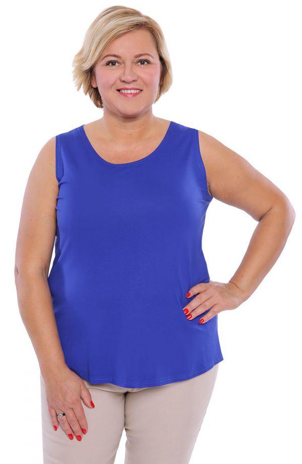 Uniwersalny niebieski top z wiskozy