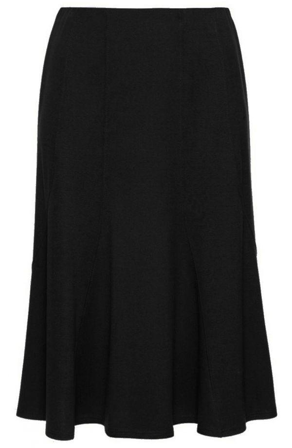 Czarna spódnica syrenka z przeszyciami