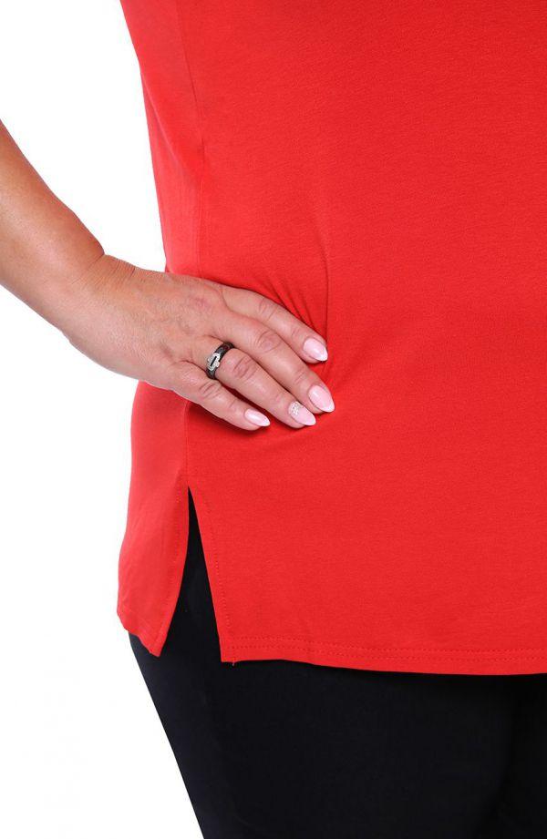 Uniwersalny top w kolorze czerwonej jarzębiny