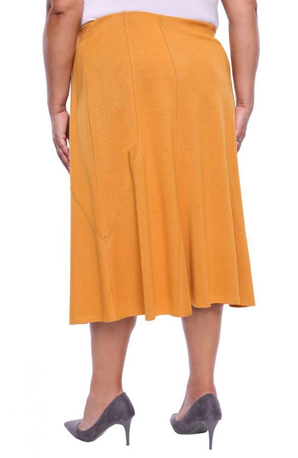 Miodowa spódnica syrenka z przeszyciami