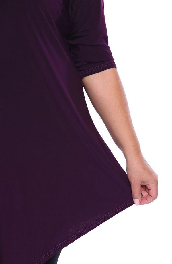 Asymetryczna tunika w kolorze oberżyny