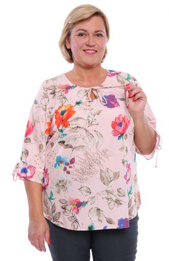 Florystyczna bluzka brzoskwiniowy blask