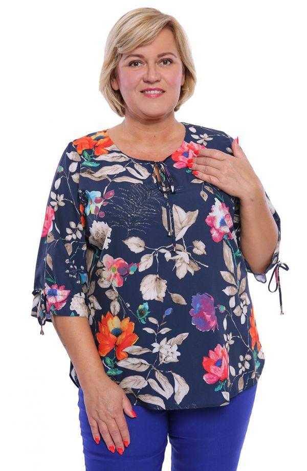 Florystyczna bluzka szlachetny blask