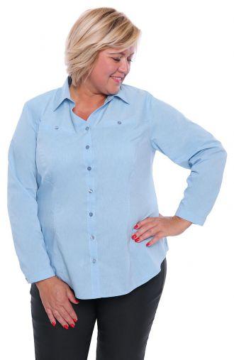 Klasyczna błękitna koszula dekolt V