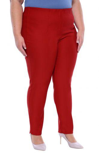 Makowe spodnie cygaretki z bengaliny