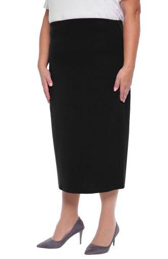 Dłuższa elegancka czarna spódnica z podszewką