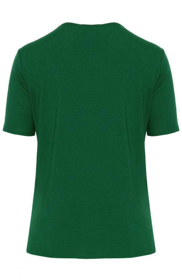 Koszulka z wiskozy w kolorze zielonym