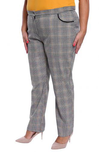 Wizytowe spodnie w kratę
