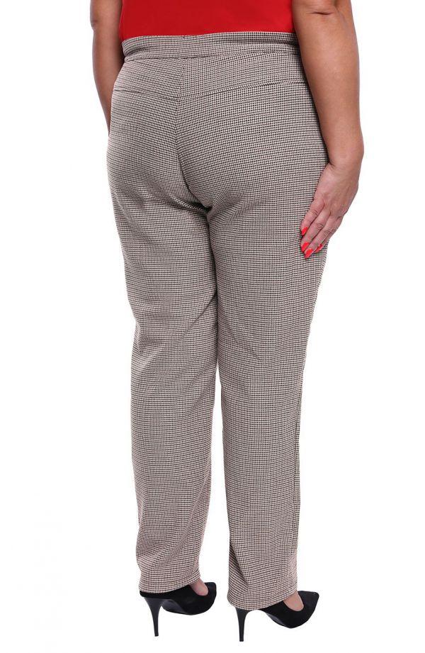 Wizytowe spodnie plus sizew pepitkę
