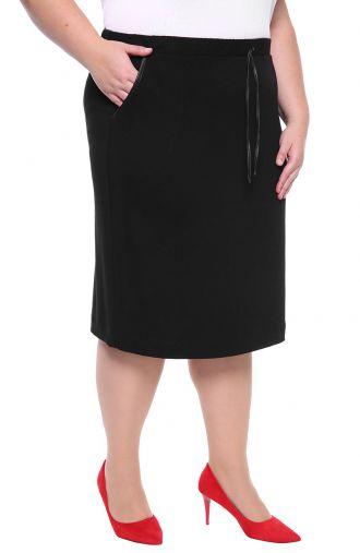 Czarna dresowa spódnica z troczkiem