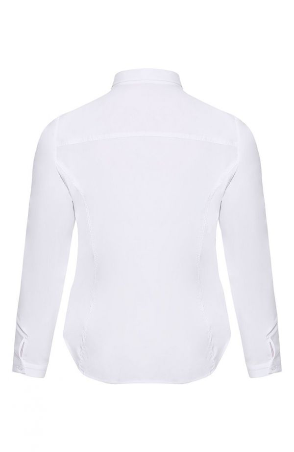 Biała klasyczna koszula z kołnierzykiem