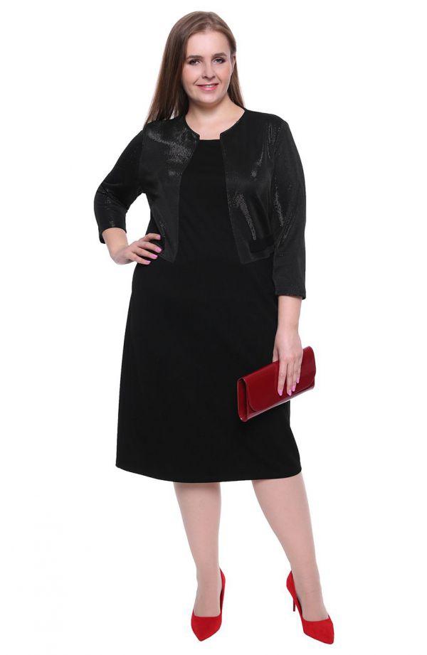 Czarna sukienka z żakiecikiem