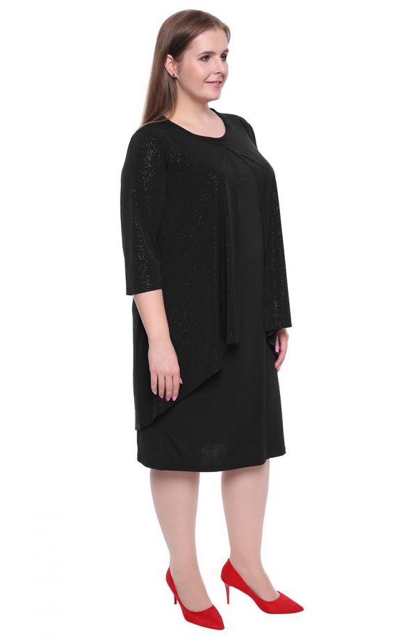 Czarna sukienka z blaskiem