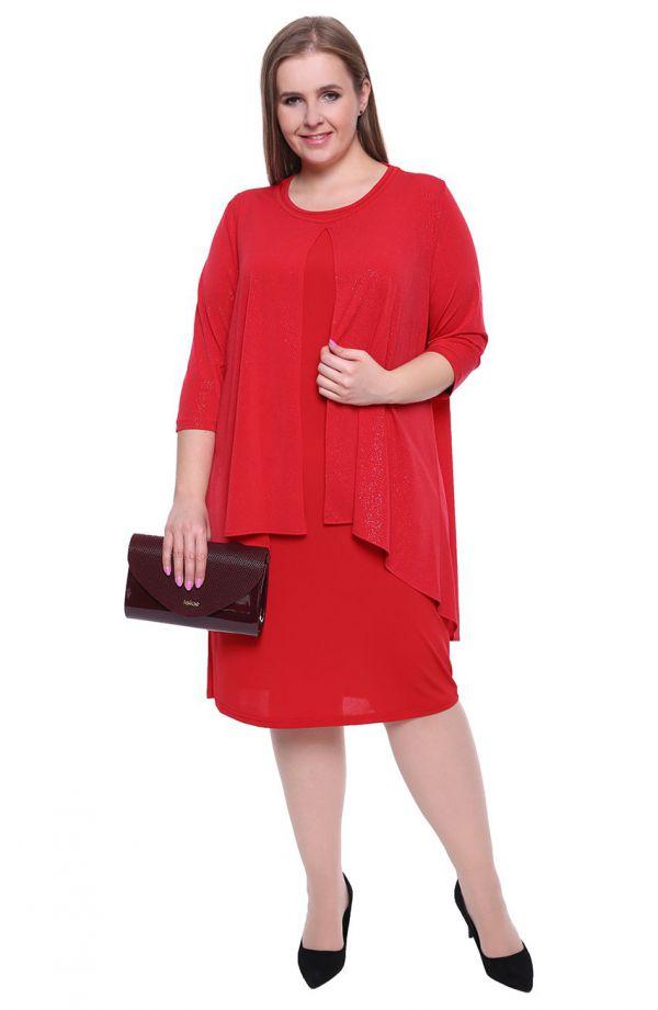 Czerwona sukienka z blaskiem