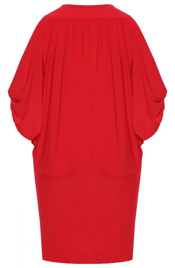 Czerwona tunika z oryginalnymi rękawami