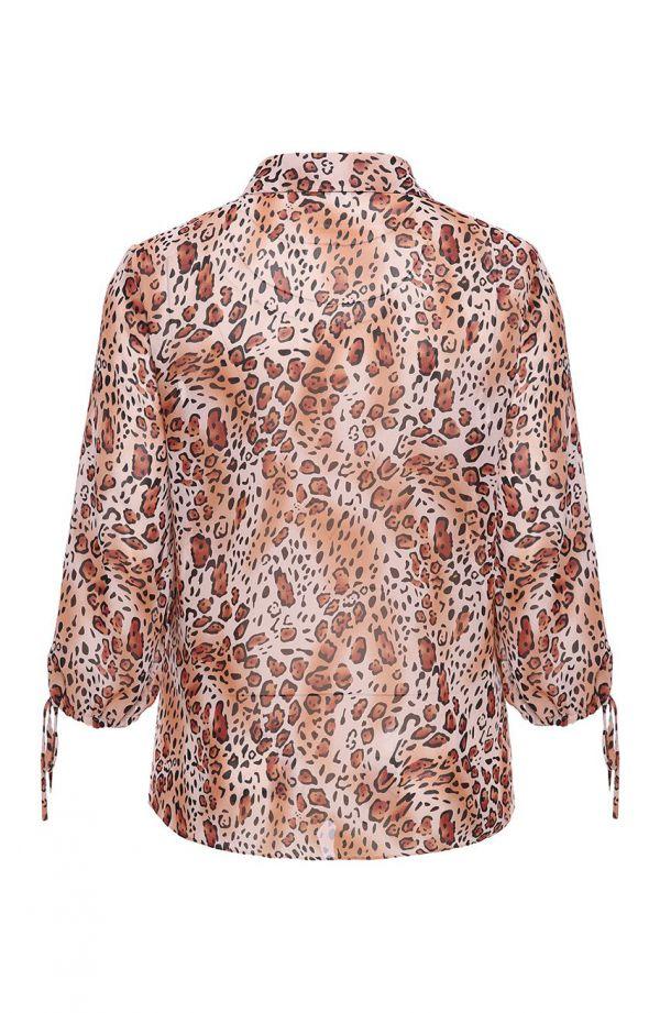 Ruda koszula w panterkę