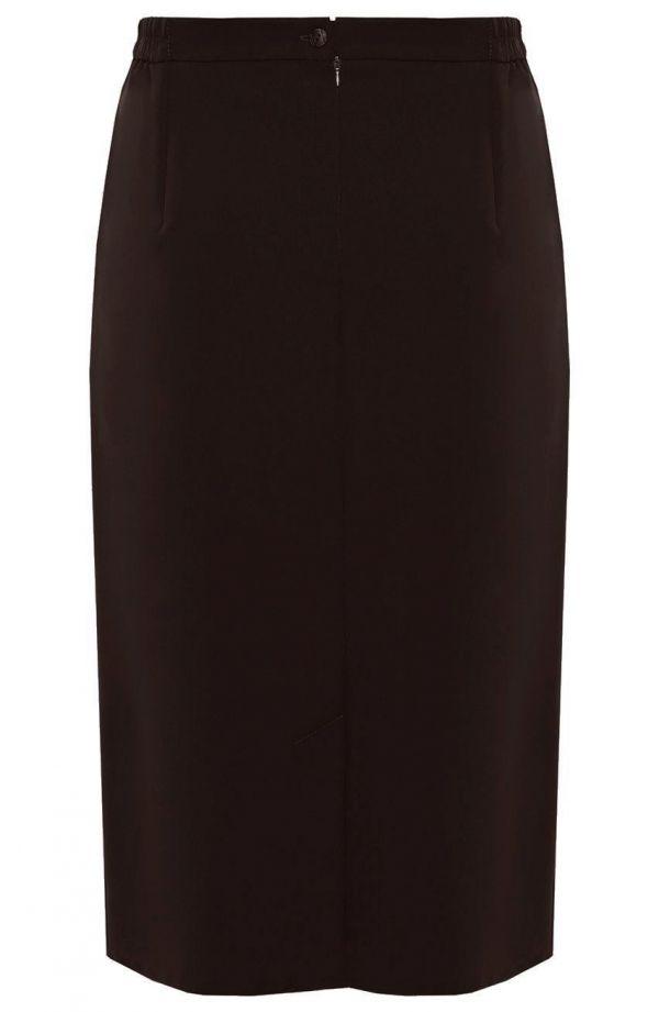 Klasyczna brązowa spódnica z przeszyciami
