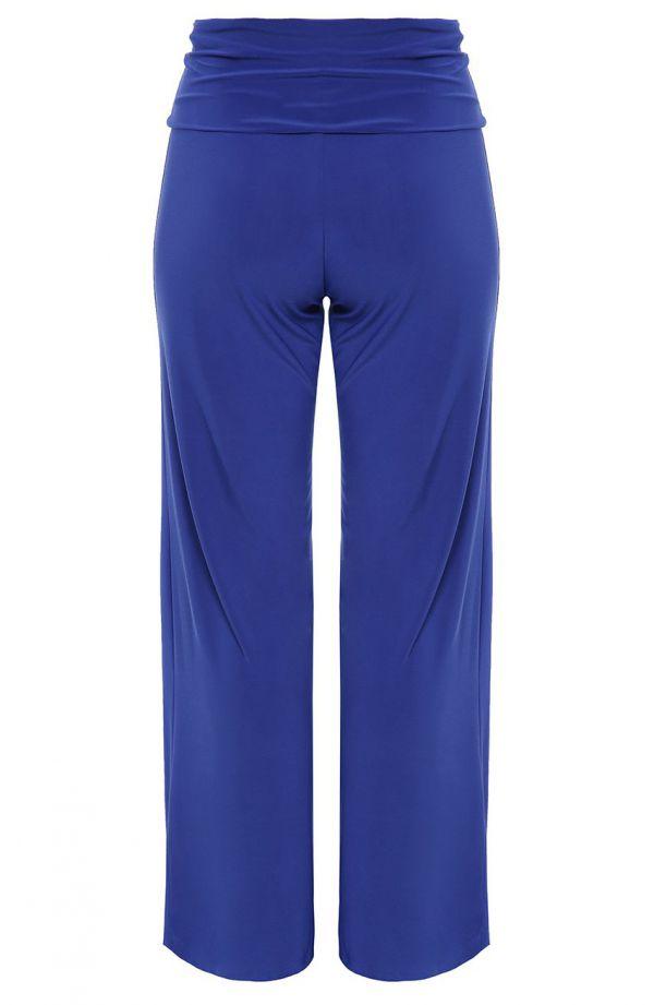 Chabrowe spodnie z ozdobnym pasem