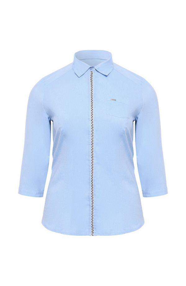Jasnoniebieska koszula z lampasem