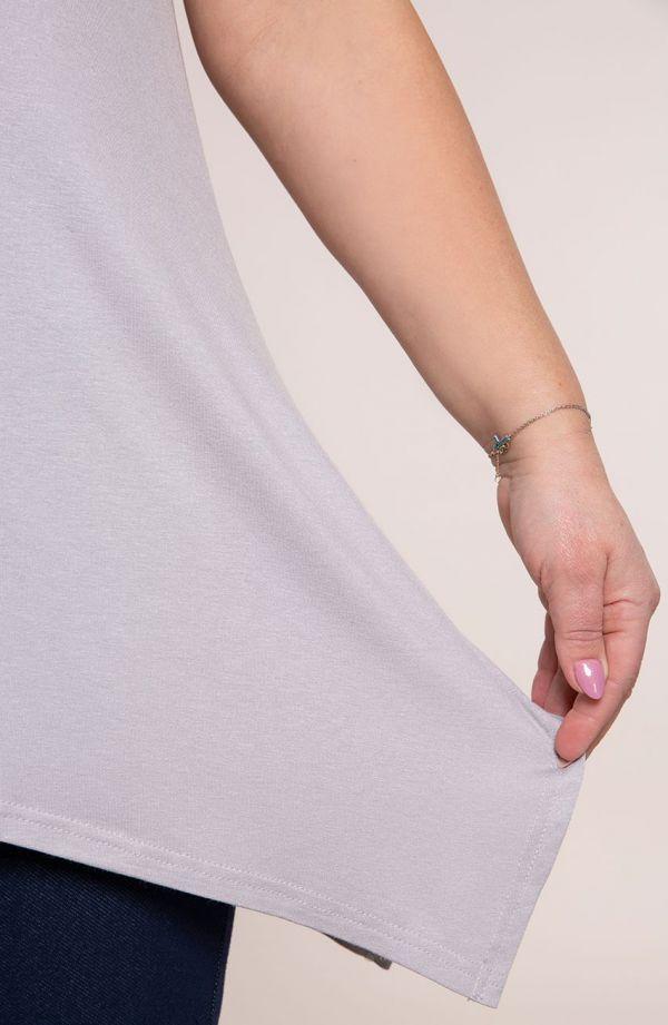 Tuniki damskie - tunika w jasnoszarym kolorze