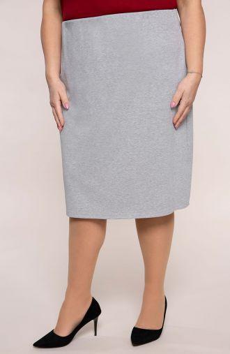 Klasyczna prosta jasnoszara spódnica