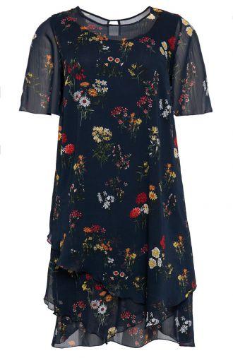 Asymetryczna sukienka polna łąka