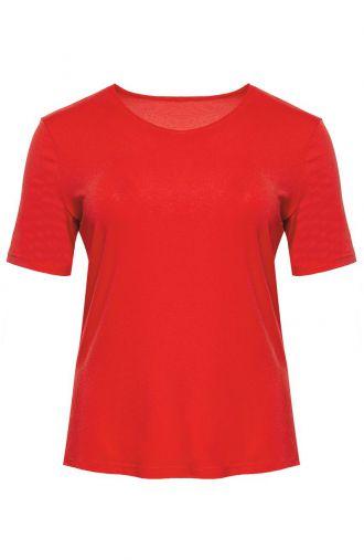 Koszulka z wiskozy w kolorze karmazynowym