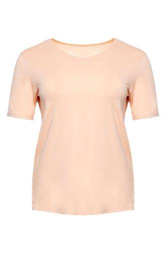 Koszulka z wiskozy w beżowym kolorze
