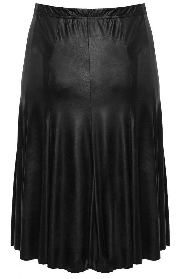 Czarna skórkowa spódnica